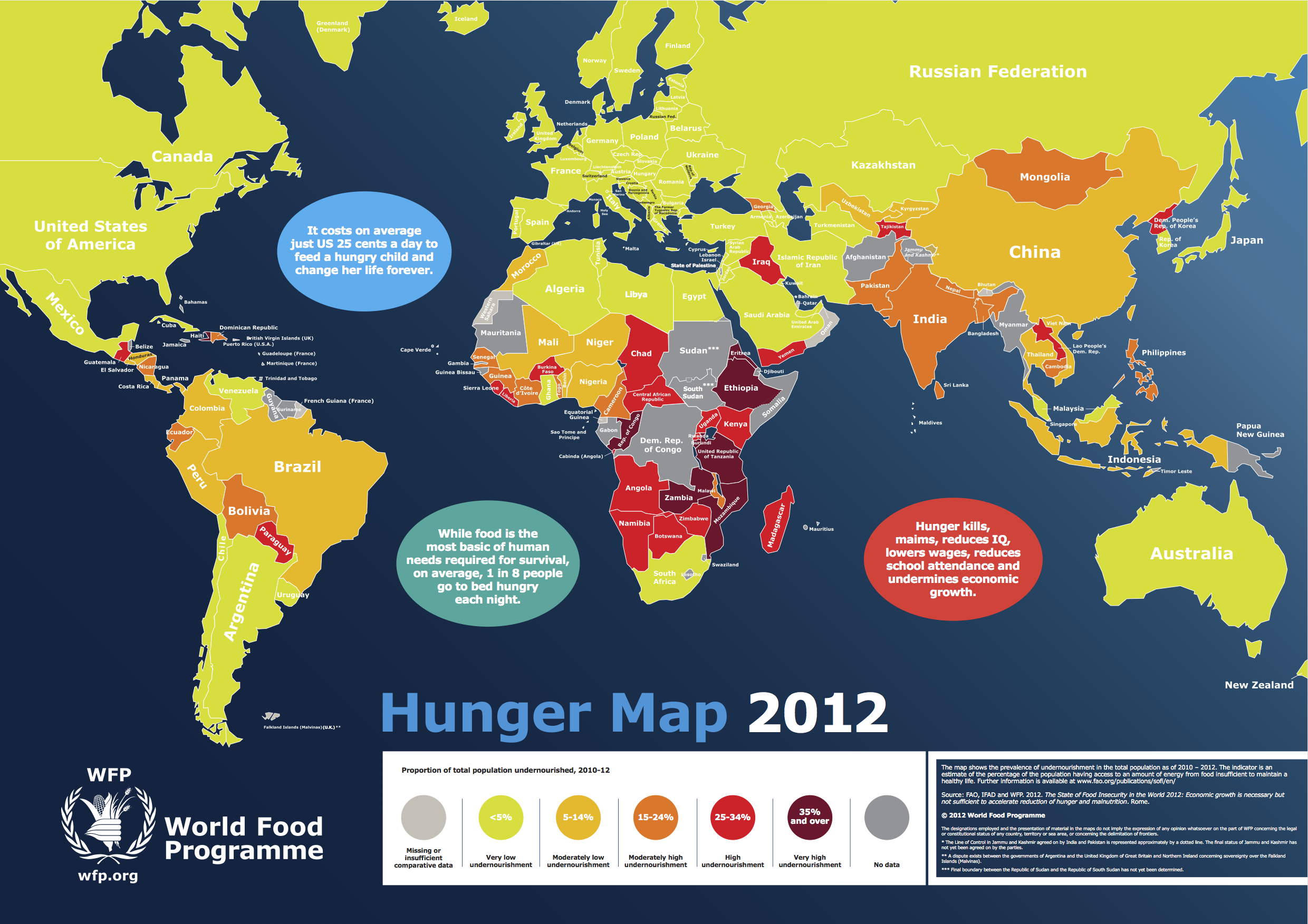causes and effects of world hunger The number of under-fed people has steadily climbed over the past decade now, the world food programme estimates that the crisis has driven another 100 million people into hunger, including even urban middle class people in indonesia and mexico.